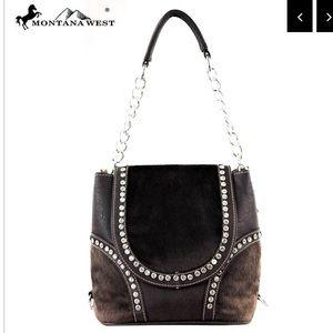 Montana West Faux Fur Collection Handbag